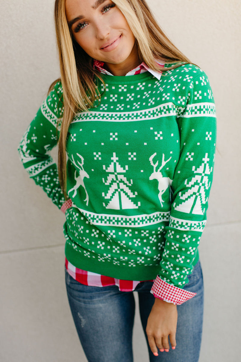 Holly Jolly Pullover Sweater