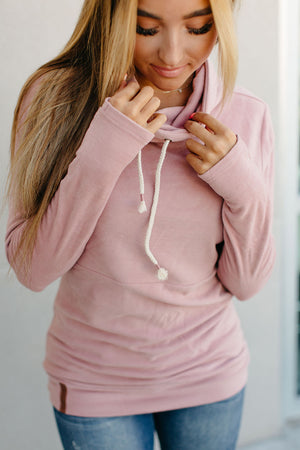 CowlNeck Sweatshirt - Partial to Pink