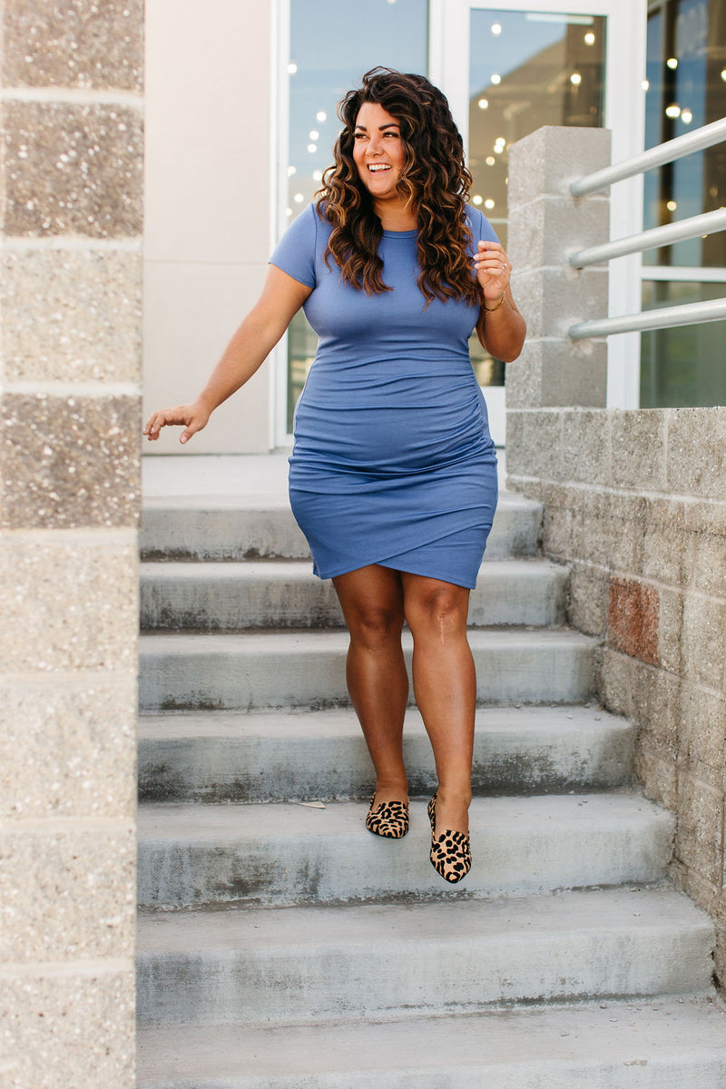 Better Than Basic Midi Dress - Blue