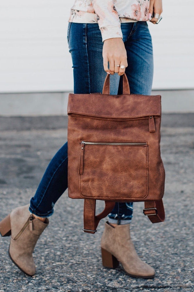 Lennon Backpack - Cognac