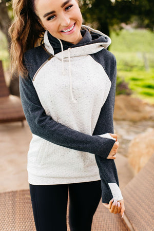 DoubleHood™ Sweatshirt - Quilted Natural