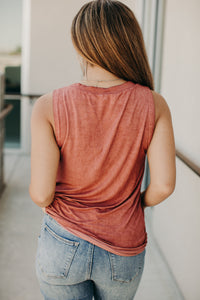 Forever Yours Henley Tank - Brick