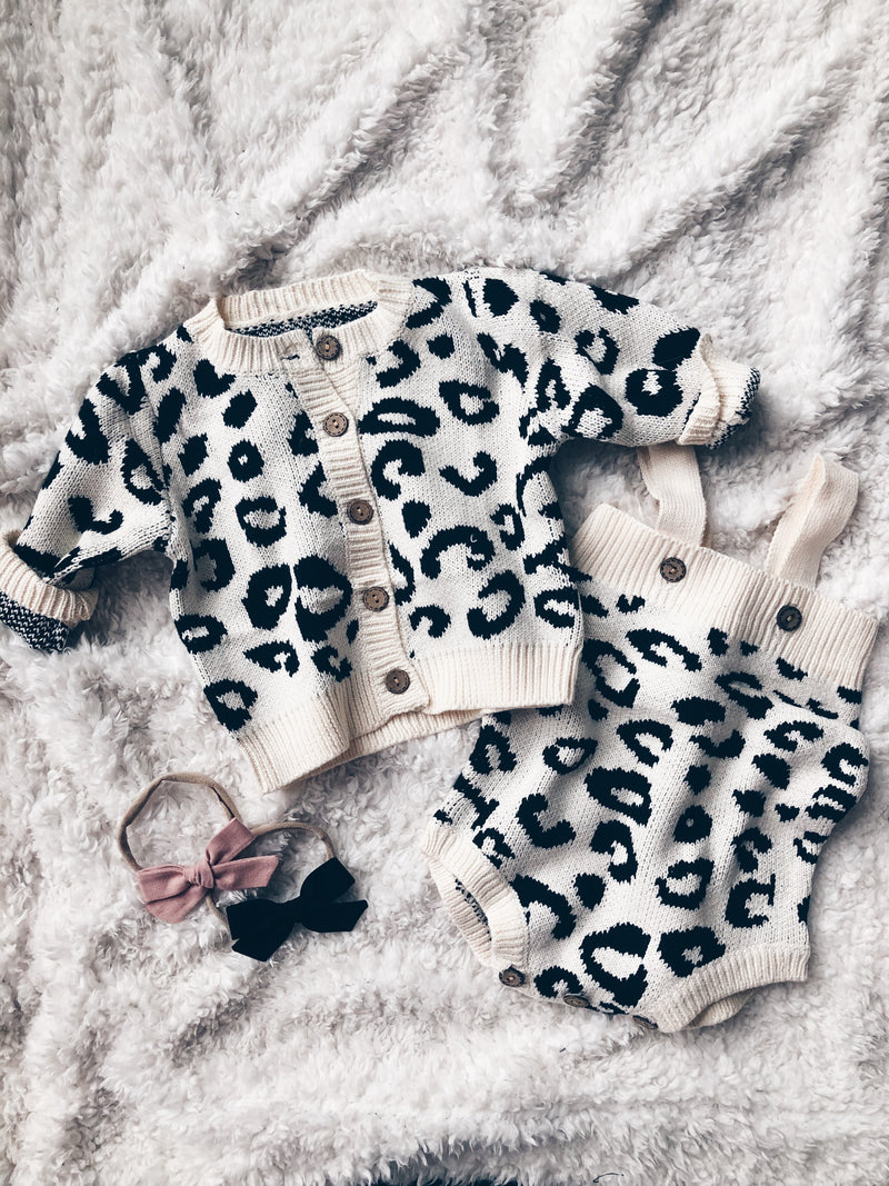 Leopard Love Cardigan Set
