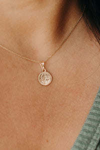 Mini Saint Coin Necklace