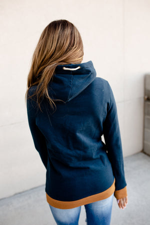 Singlehood Sweatshirt - Navy & Goldenrod