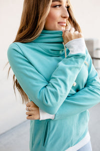 Singlehood Sweatshirt - Teal & Grey