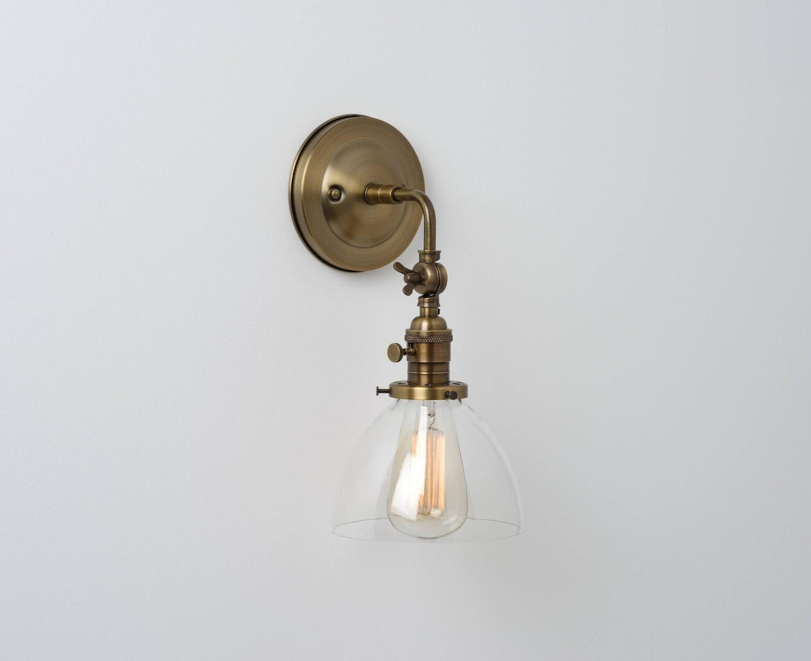 Thetford (Clear) | Elbow Sconce