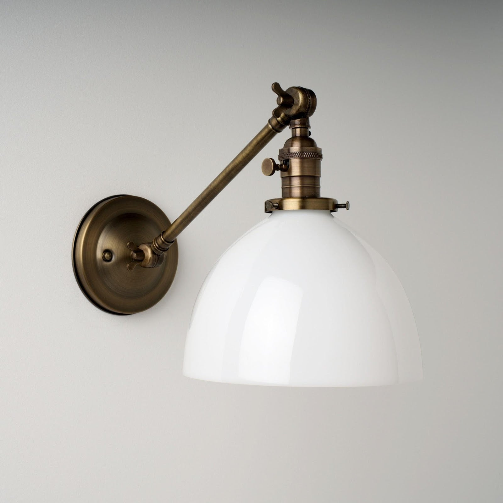Thetford (Opal) | Adjustable Arm Sconce