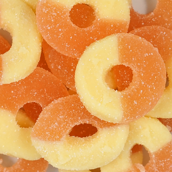 Sugar-Free Peach Gummi Rings