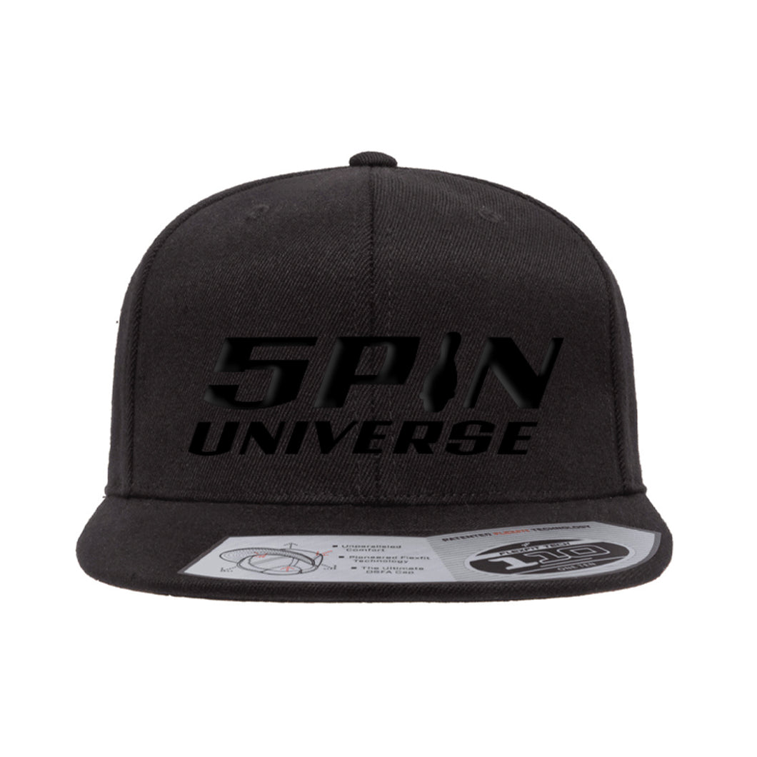 5PU Black on Black Snapback - Blackout Edition