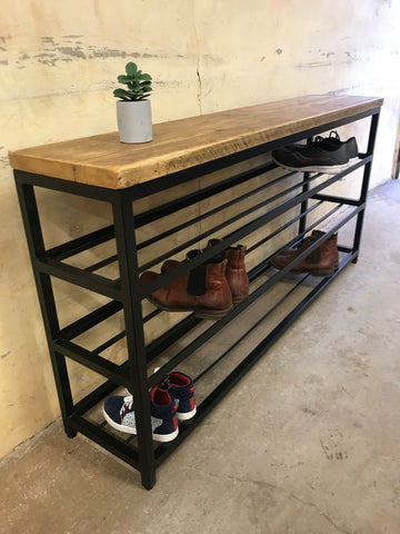 3 tier shoe storage rack industrial design