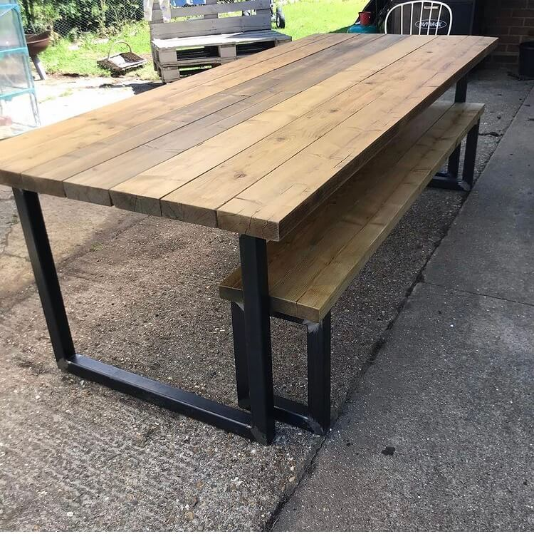 Industrial Design Table, Kitchen or Dining Table, Handmade
