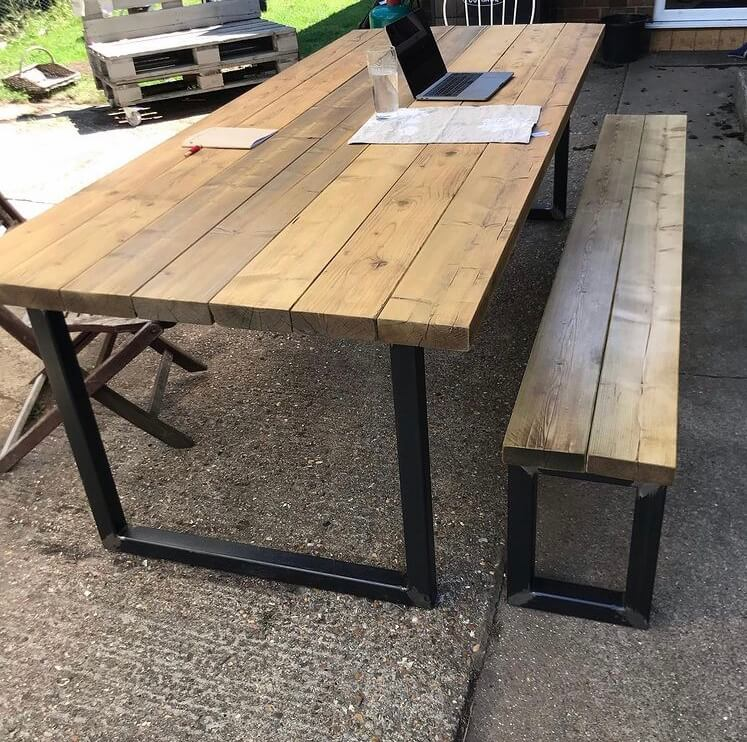 Bench Seat, Dining Table Bench Industrial Design