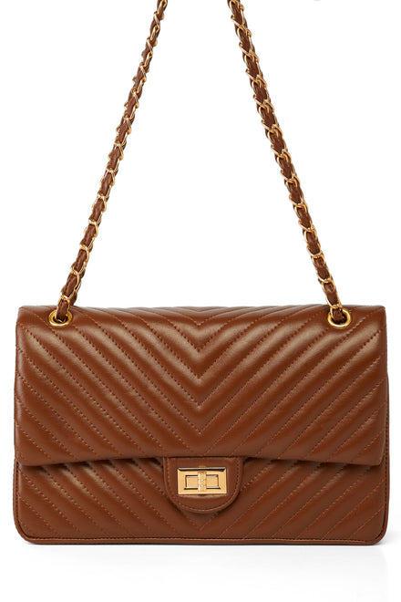 Full Of Lines Bag - Brown