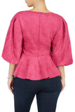 Throw Em' Suede Top (Fuchsia)