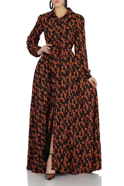 Floral Dreams Maxi Dress (Black)