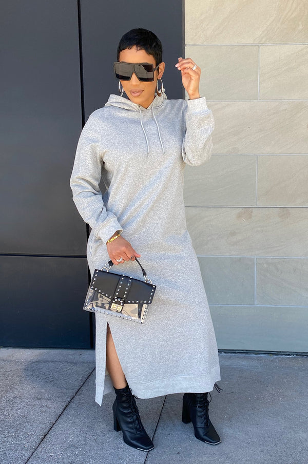 Friday Mood Sweater Dress - Grey
