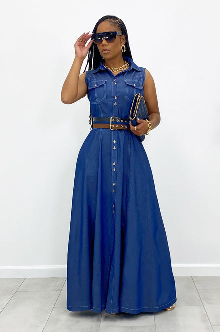 Loving Denim Maxi Dress