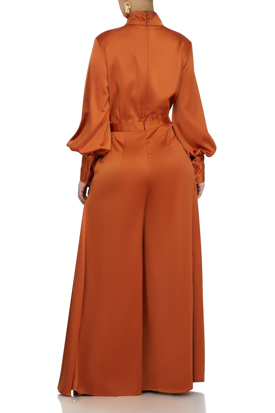 Smooth and Graceful Jumpsuit (Rust)