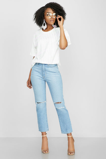 Stripe it or Not Jeans