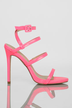 Step Things Up Heels - Hot Pink