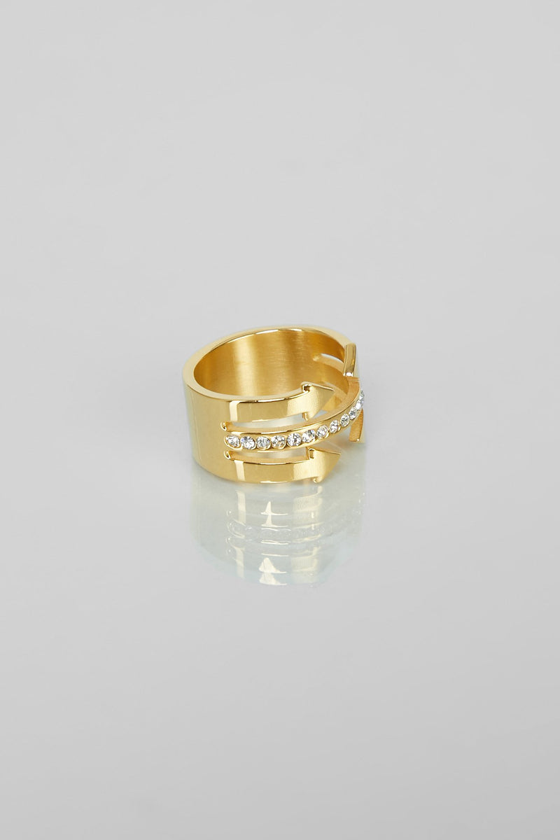 Straight To My Heart Gold Ring