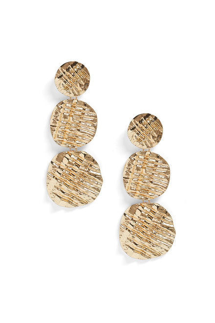 Shell It To Me Straight Earrings (Gold)