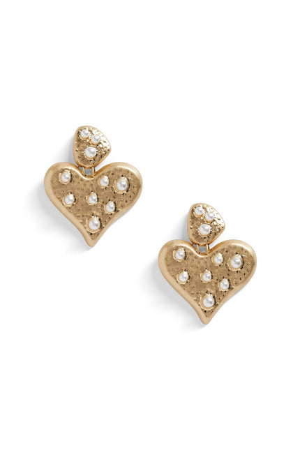 Queen Of Hearts Earrings (Black)