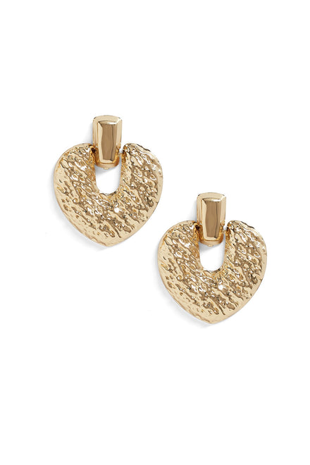 Heart To Heart Earrings -Gold
