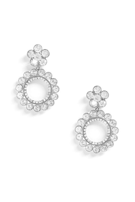 Feel The Flower Earrings -Silver