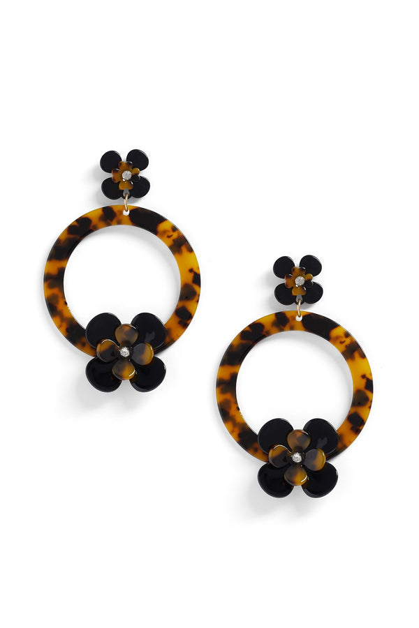 Marble Later Earrings - Tortoise