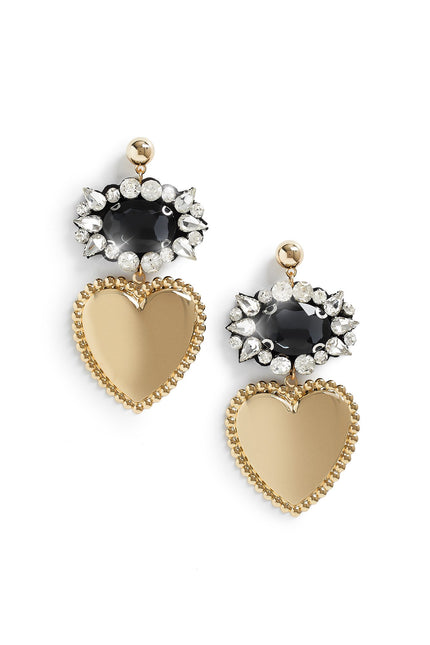 Heart To Heart Earrings (Silver)