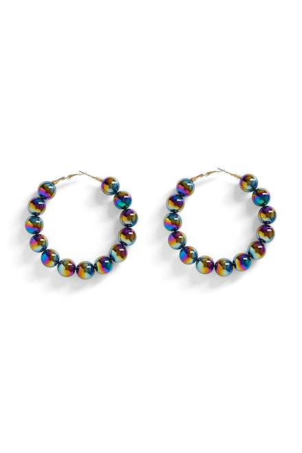 Ballin' Outta Control Earrings (Multi Blue)