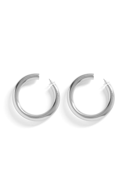 Keep Me In The Hoop Earrings (Silver)