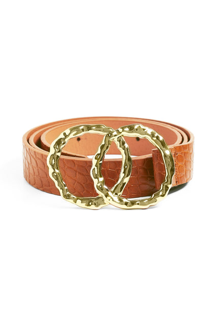 Around The Edges Belt  (Camel)