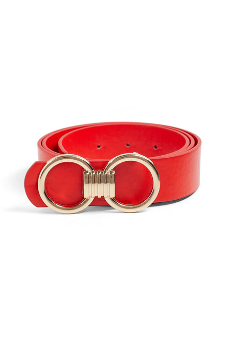 Buckle Down Belt (Red)