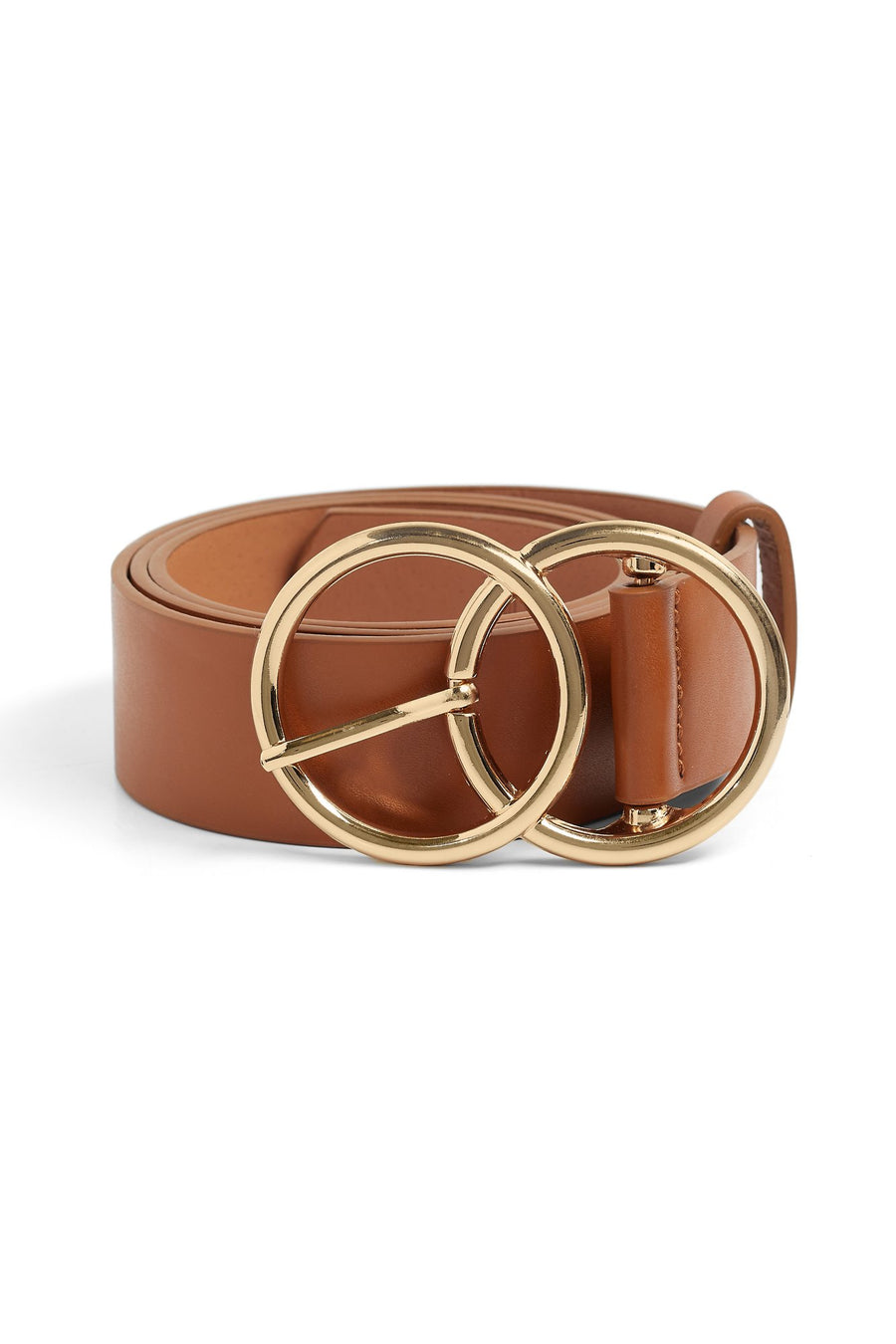 Circle Back Belt (Cognac/Gold)