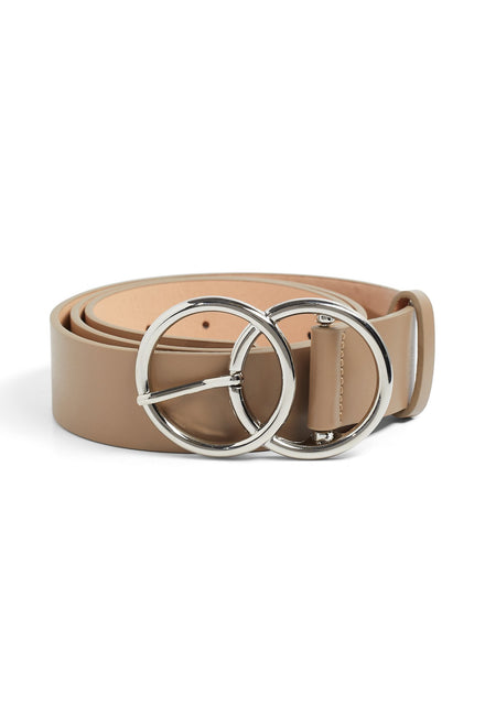 Circle Back Belt - Taupe & Silver
