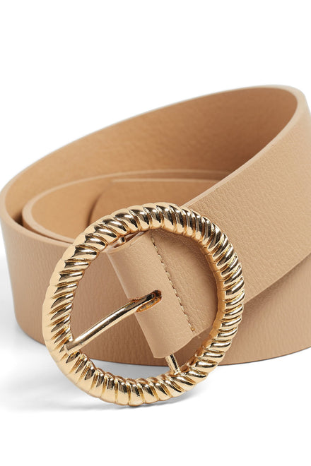 Gather Round Belt - Beige
