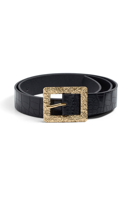 Channeling Cheetah Belt (White/Black)