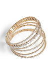 The Diamond Crossover Bracelet - Gold