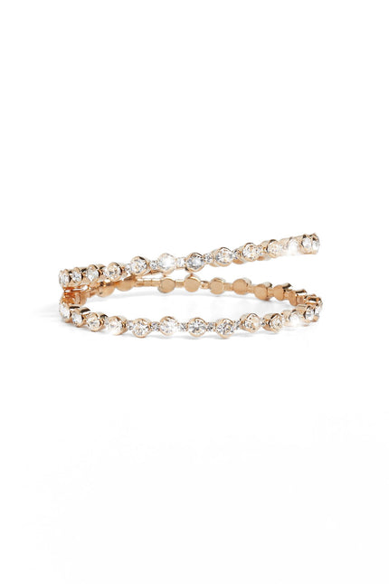 Double Arrow CZ Silver Bracelet
