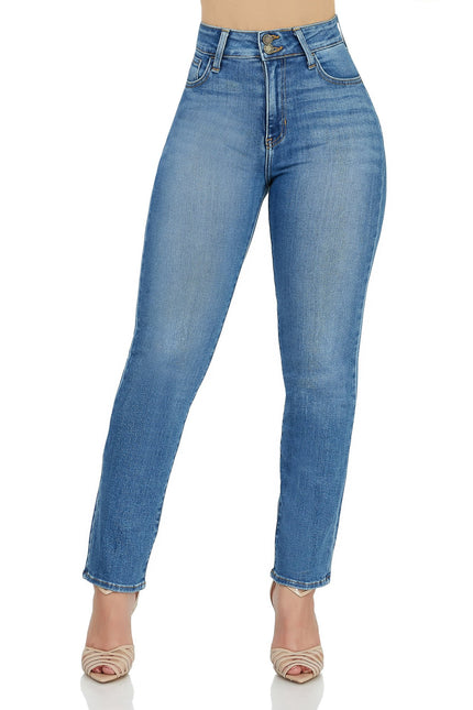 Straight To The Point Mid Rise Jeans (Light)