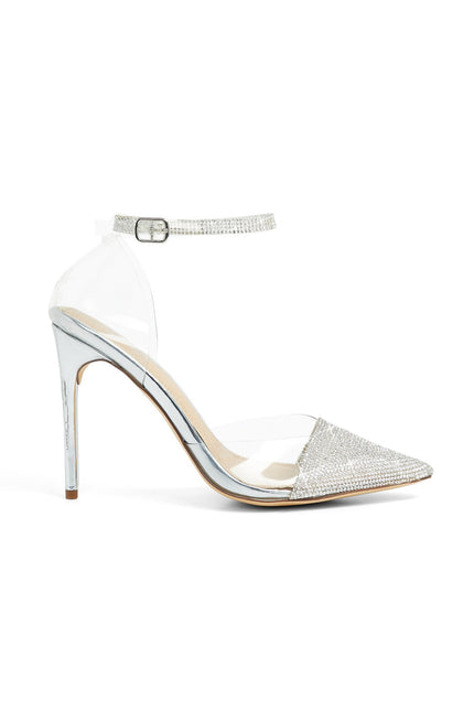 Looking Mighty Shine Heels (Silver)