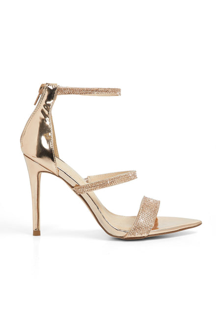 Looking Mighty Shine Heels (Rose Gold)