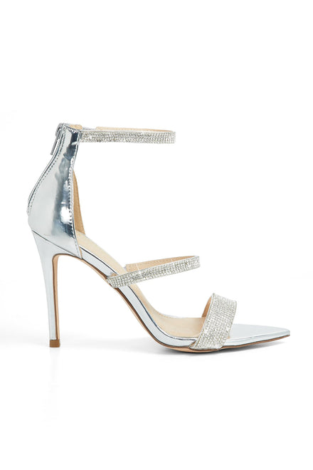 Looking Mighty Shine Heels - Silver