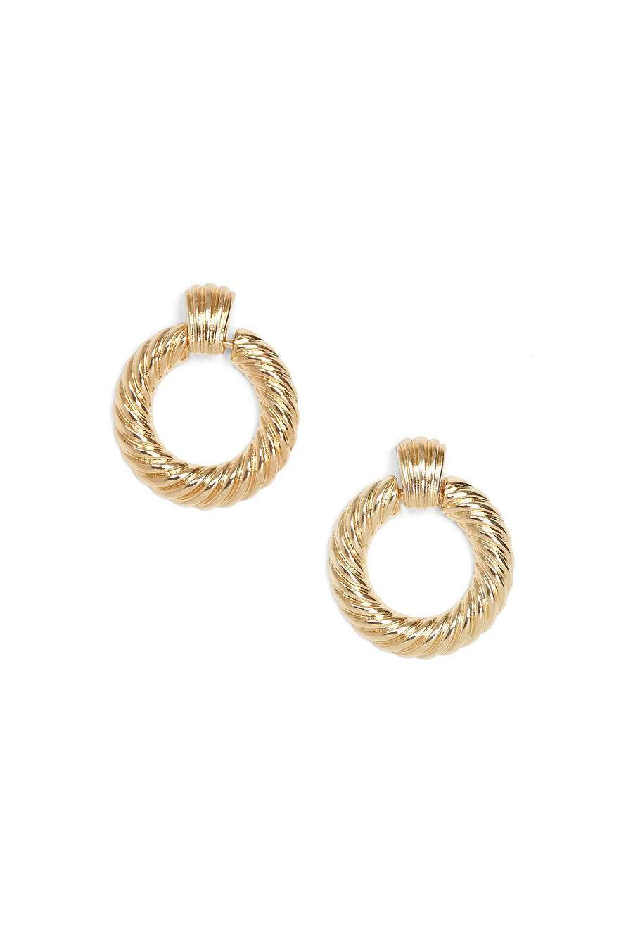 Circle My Heart Earrings (Gold)