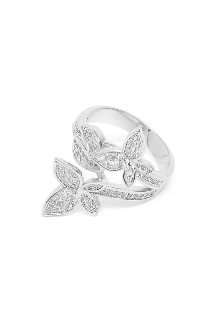 Sparks Butterfly Ring (Silver)