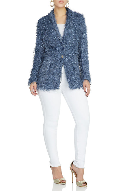 Up In A Frenzy Blazer (Dusty Blue)
