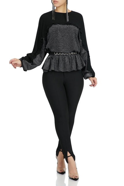 Flower Me With Love Top (Black)